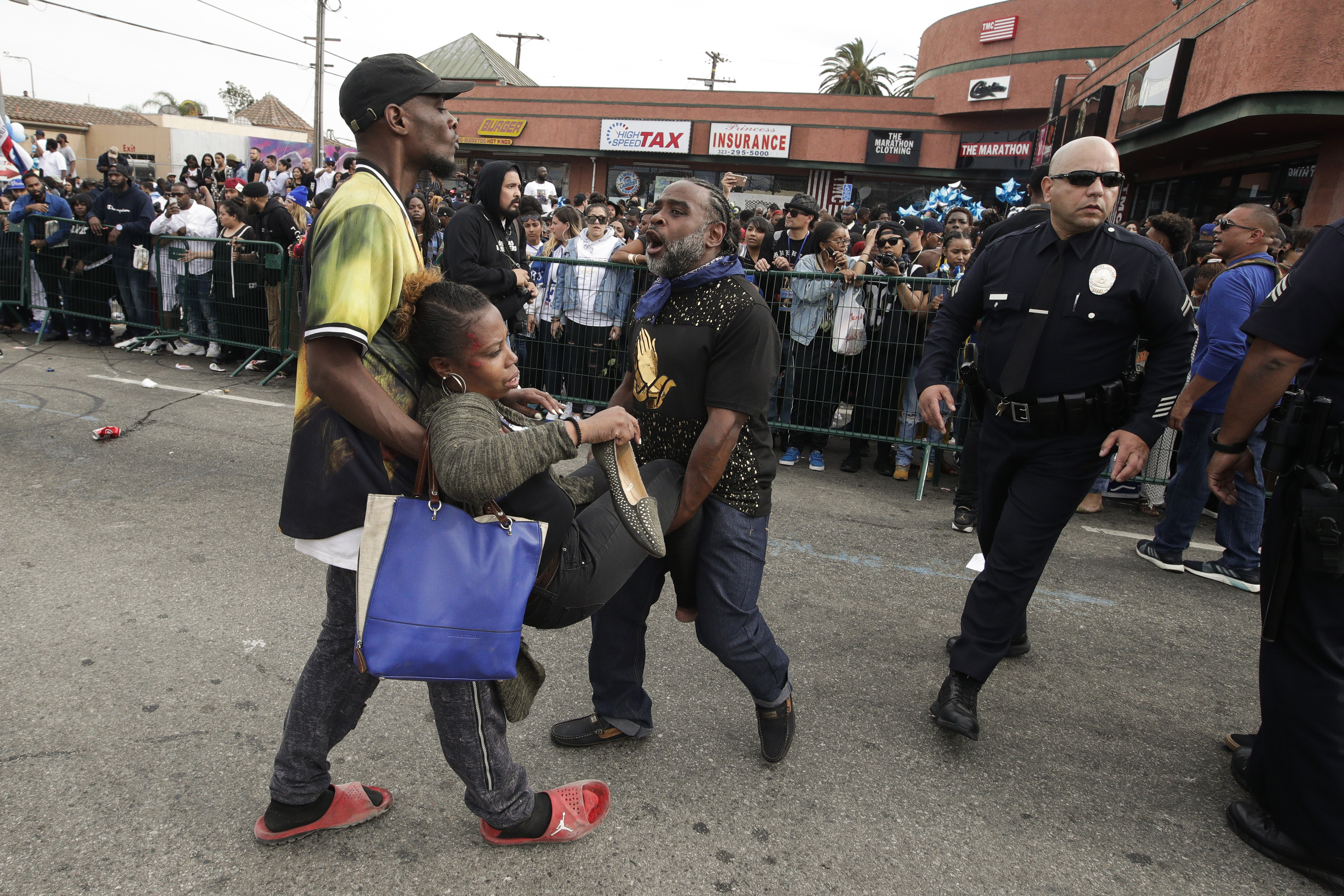 Fans began to ran after hearing gun shots. Credit: PA