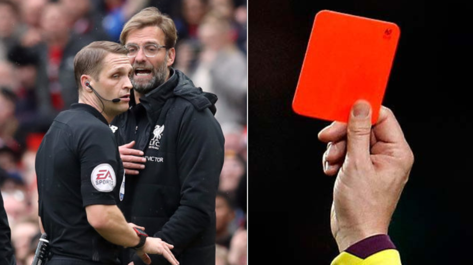 Managers To Receive Yellow And Red Cards In The 2018/19 Season