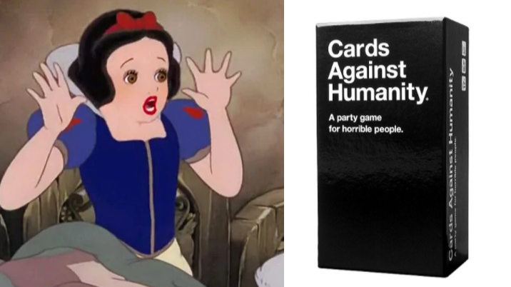 cards against humanity may be releasing a disney version pretty 52. Black Bedroom Furniture Sets. Home Design Ideas