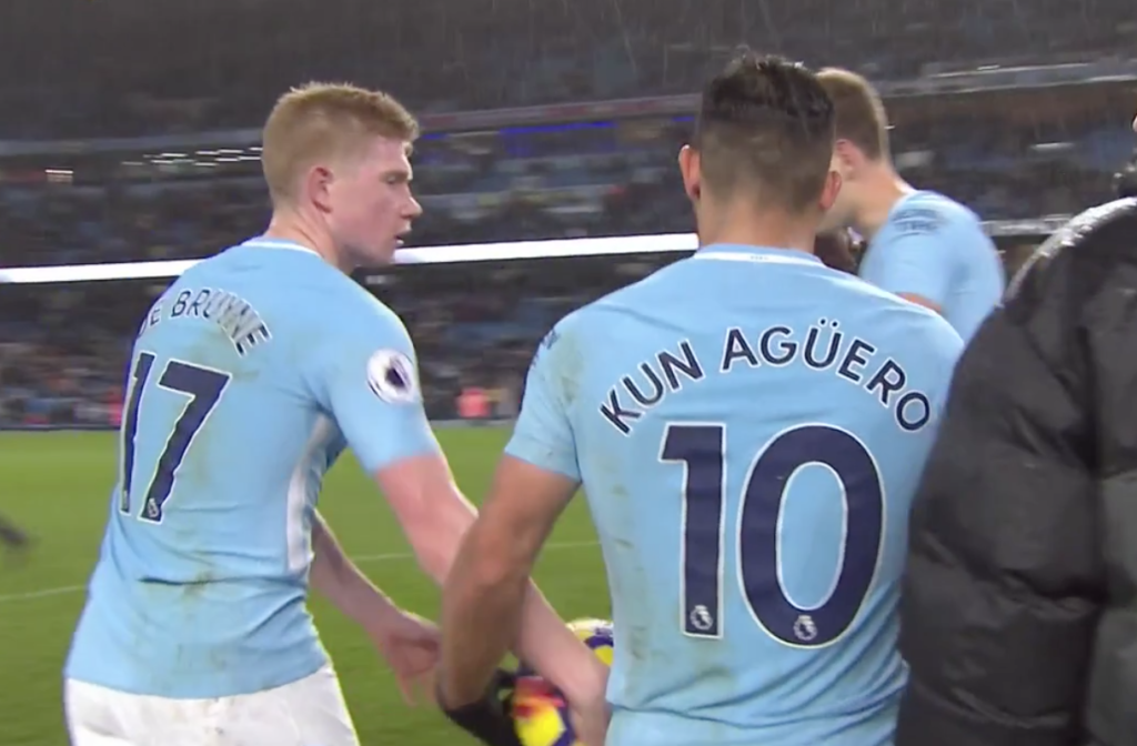 Aguero: City lucky to have De Bruyne