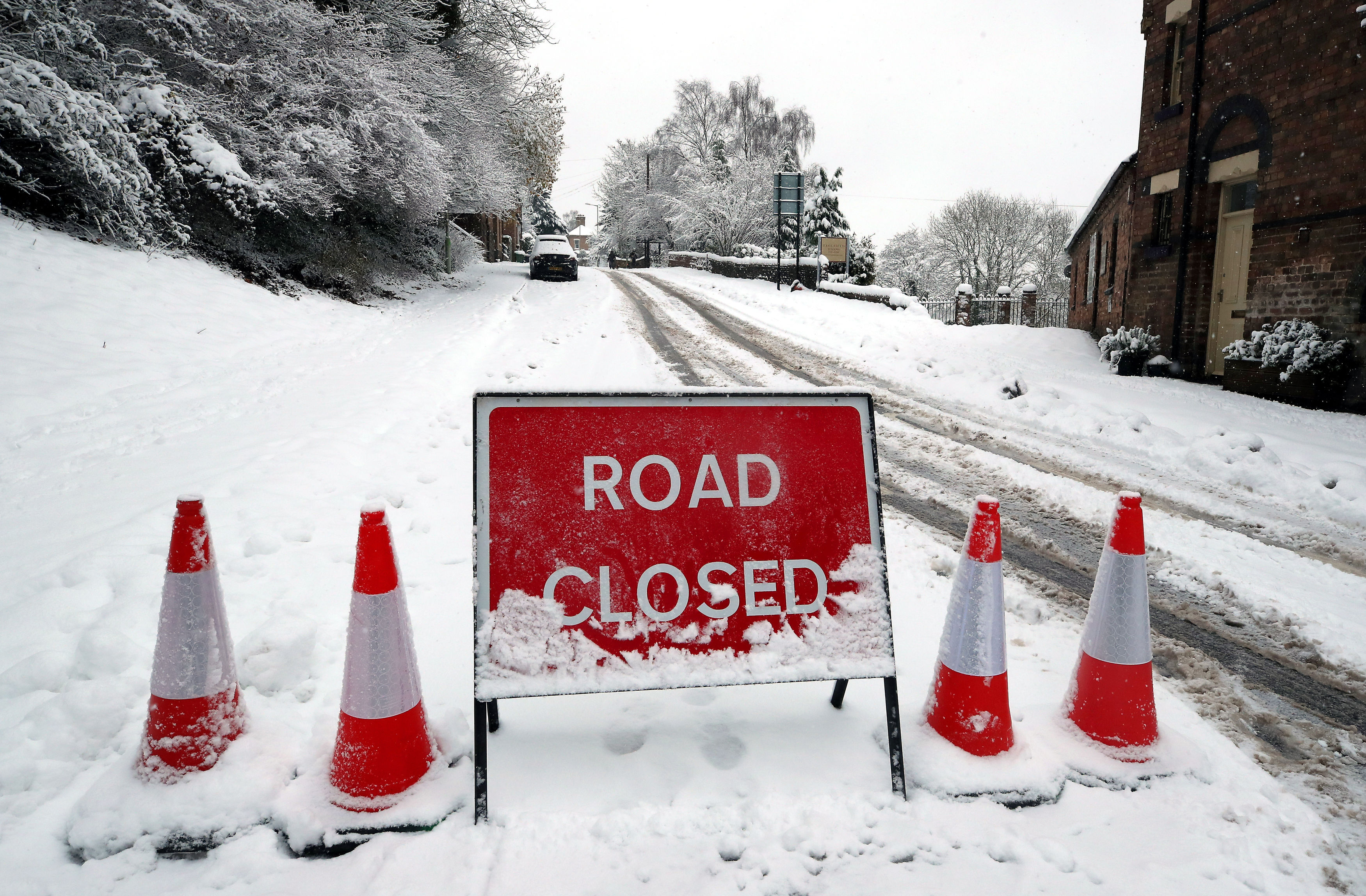 The Met Office has issued a yellow weather warning with heavy snow expected to hit this weekend. Credit: PA