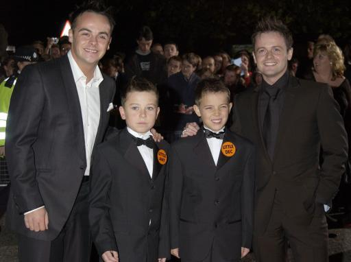 Ant and Dec with the original Little Ant and Dec in the early 2000s. Credit: PA