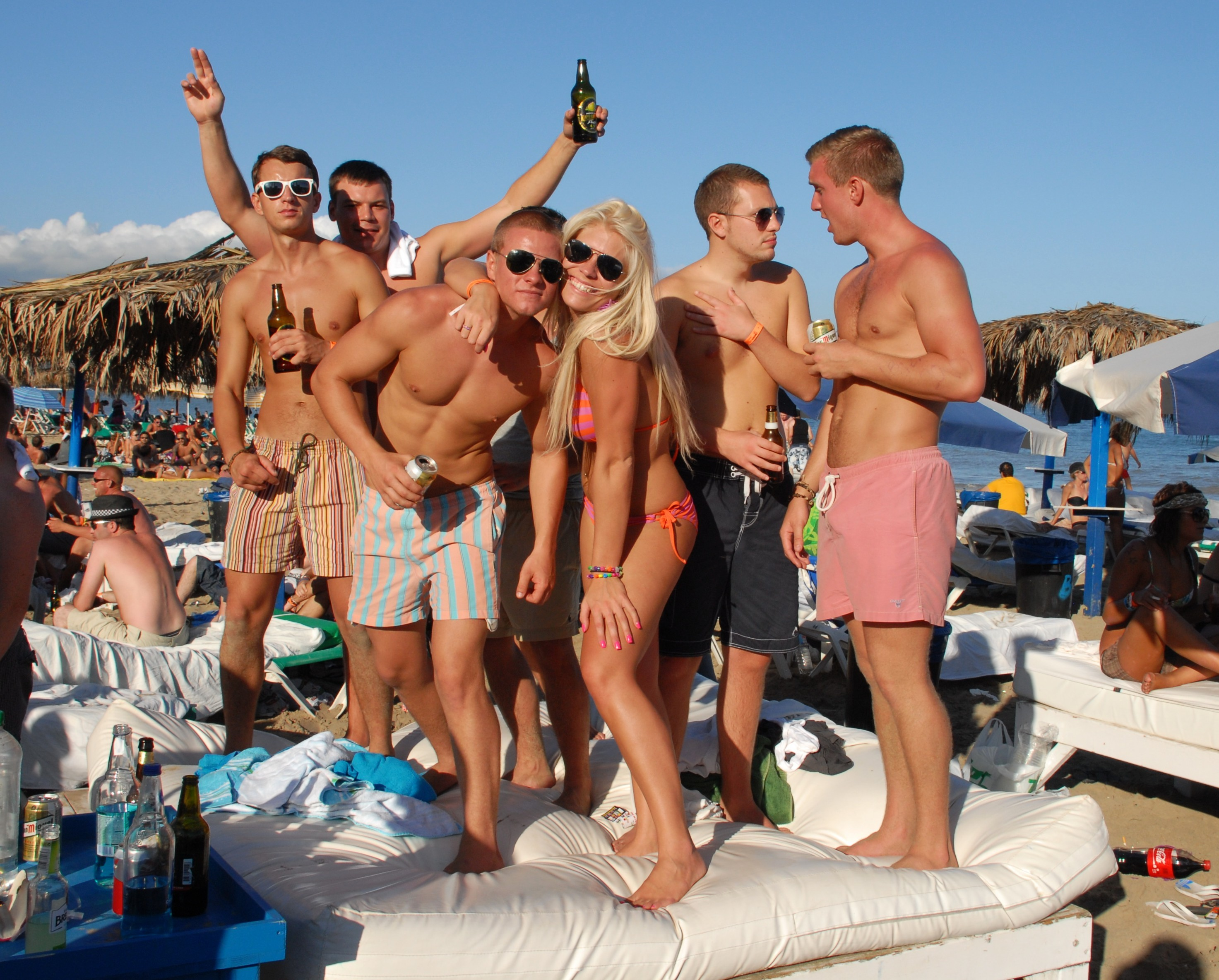 Partygoers in Ibiza. Credit: PA