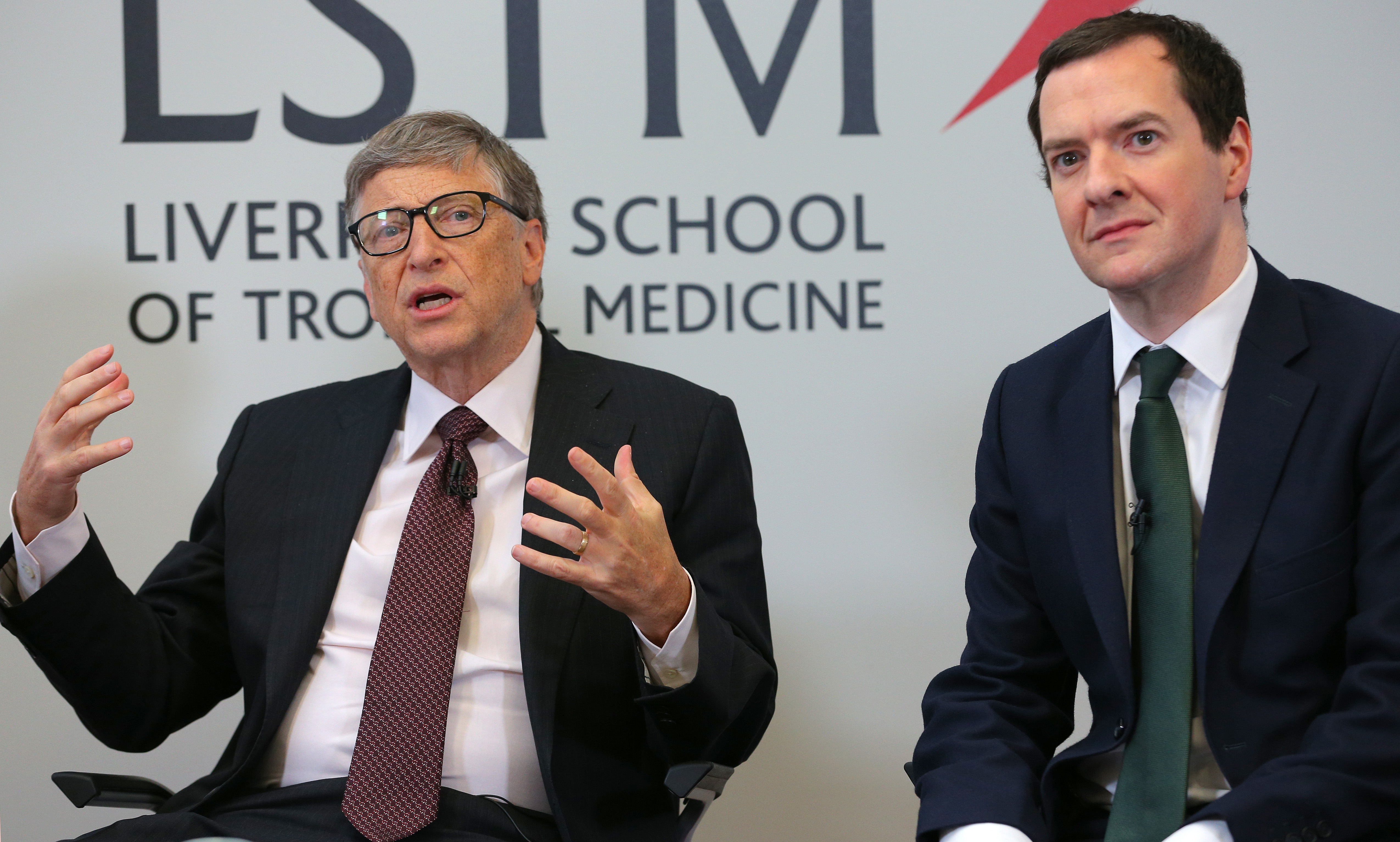Bill Gates and George Osborne
