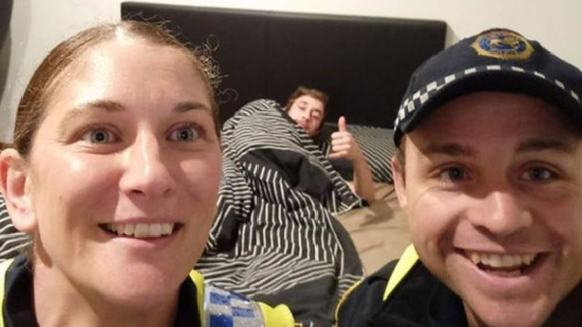 Tasmanian Cops Escort Drunk Man Home And Take A Selfie With Him