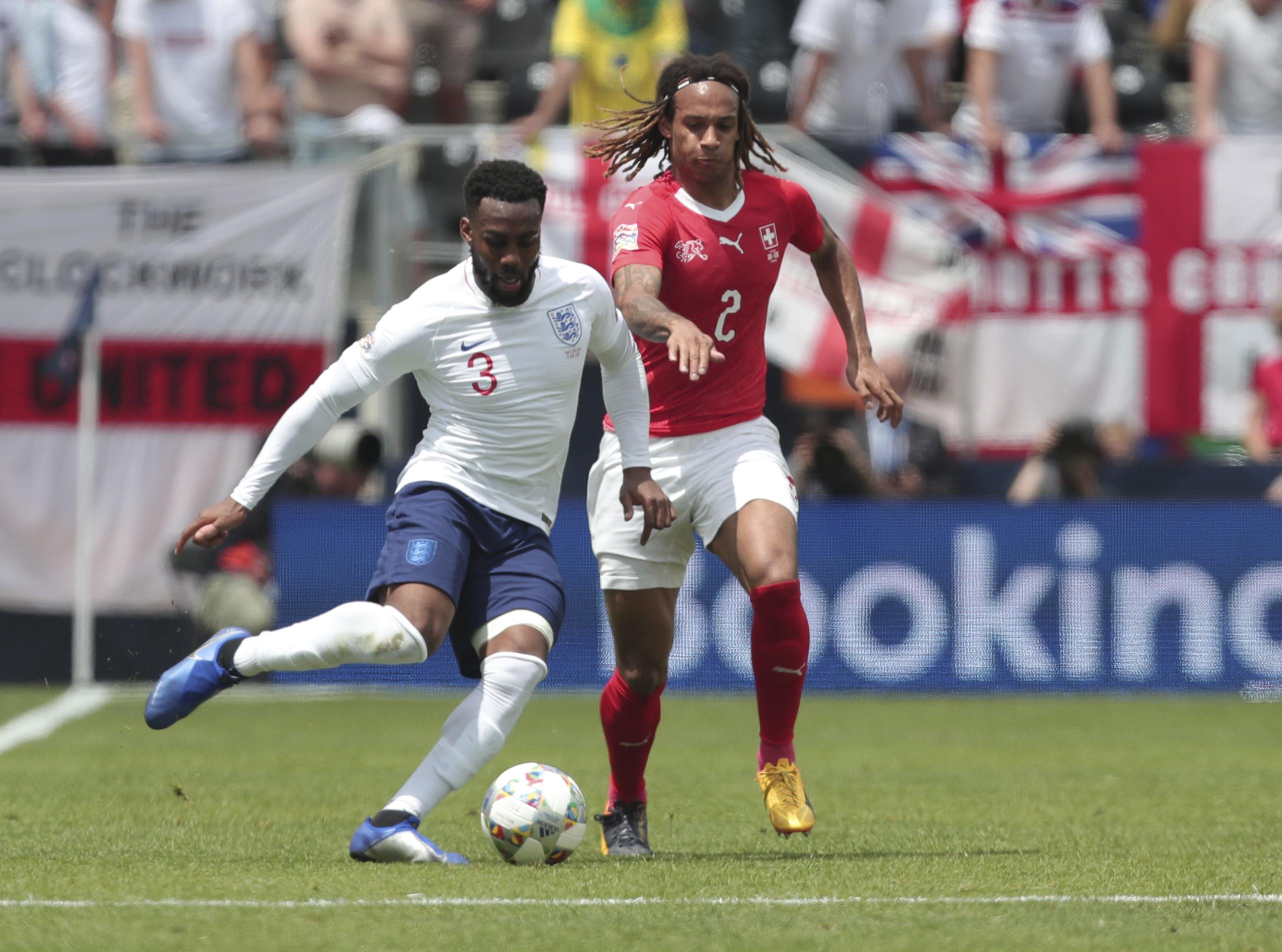 Danny Rose was given a start at left-back against Switzerland
