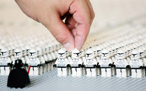 The events are being set up to celebrate the arrival of new Star Wars LEGO sets. Credit: PA