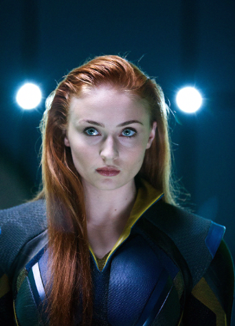 Sophie Turner ginger as Jean Grey. Credit: 20th Century Fox