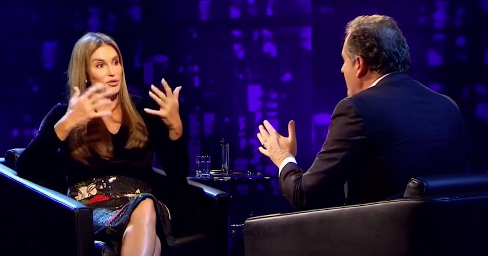 Caitlyn kept her composure as she educated Piers on how to approach the topic of a transgendered person's body. Credit: ITV