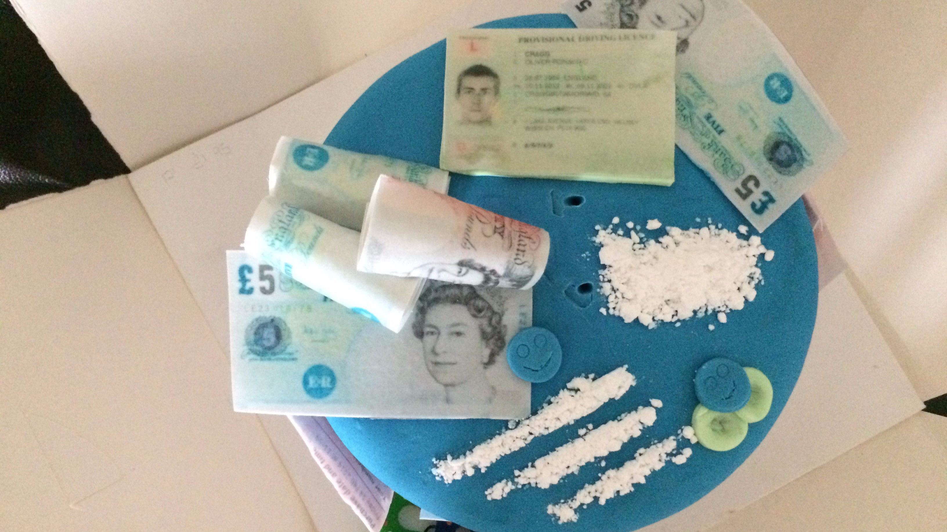 Someone Made A Cocaine And Ecstasy-Themed Birthday Cake