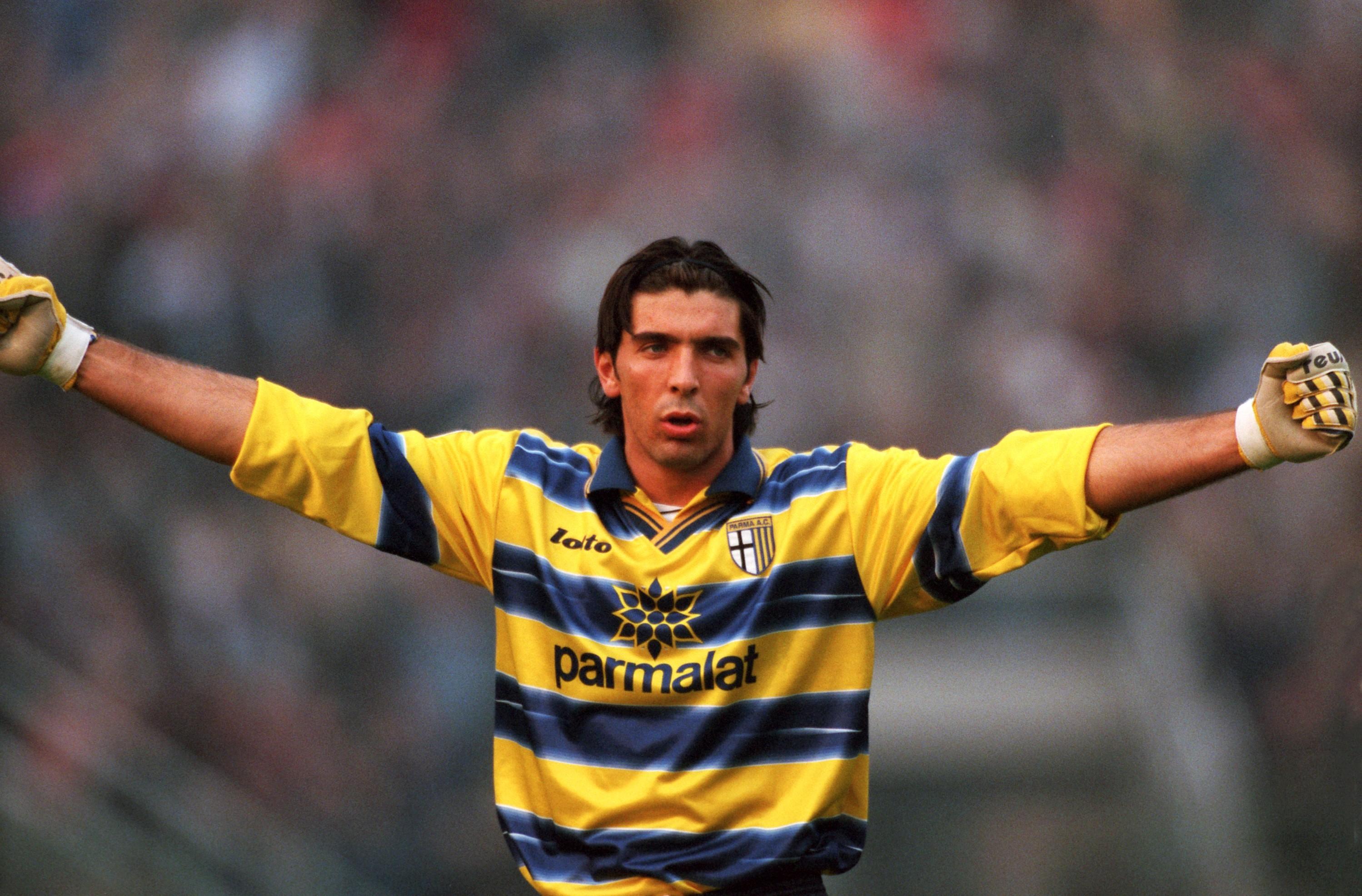 A young Buffon at Parma. Image: PA Images