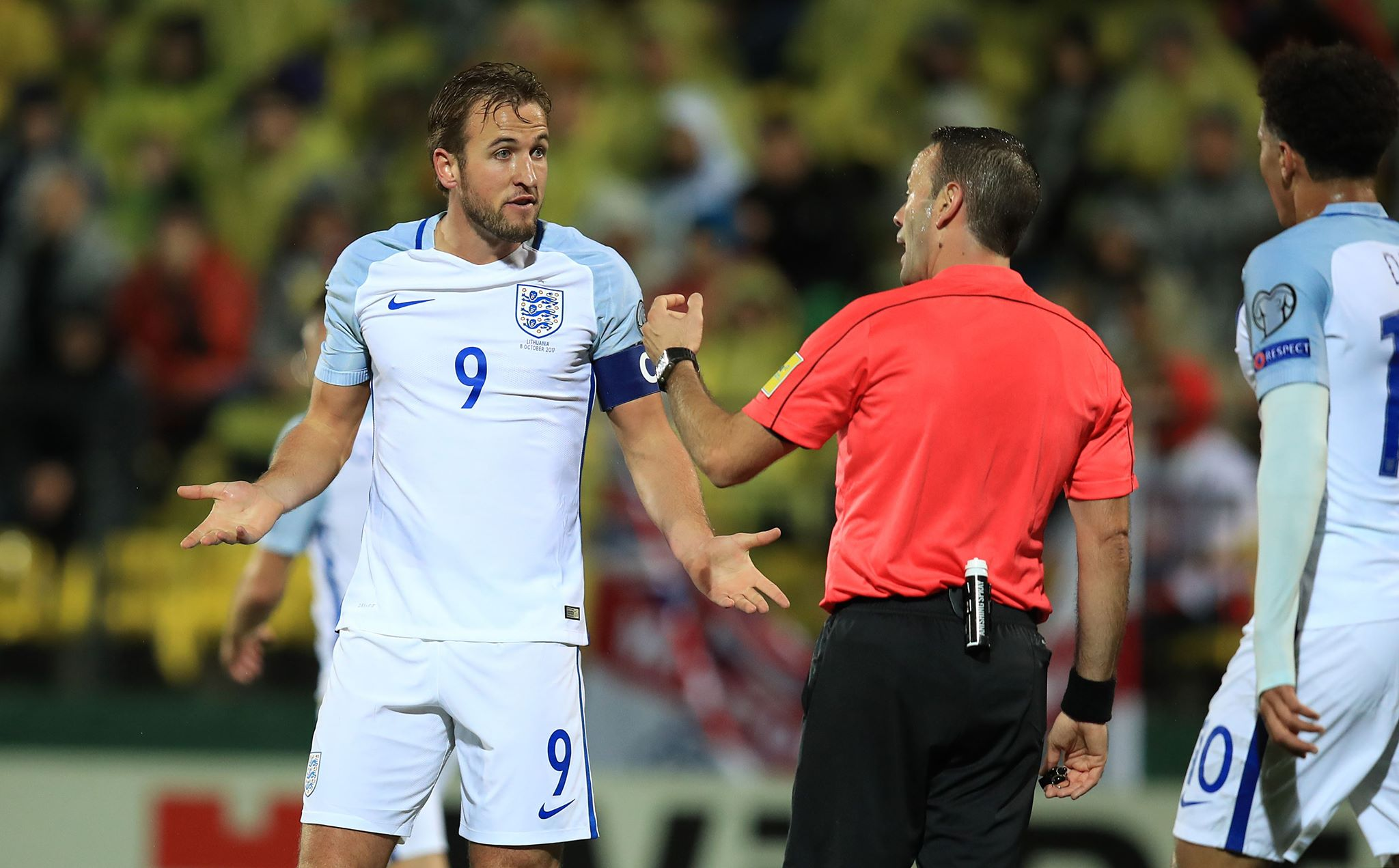 Kane donning the armband for England. Image: PA