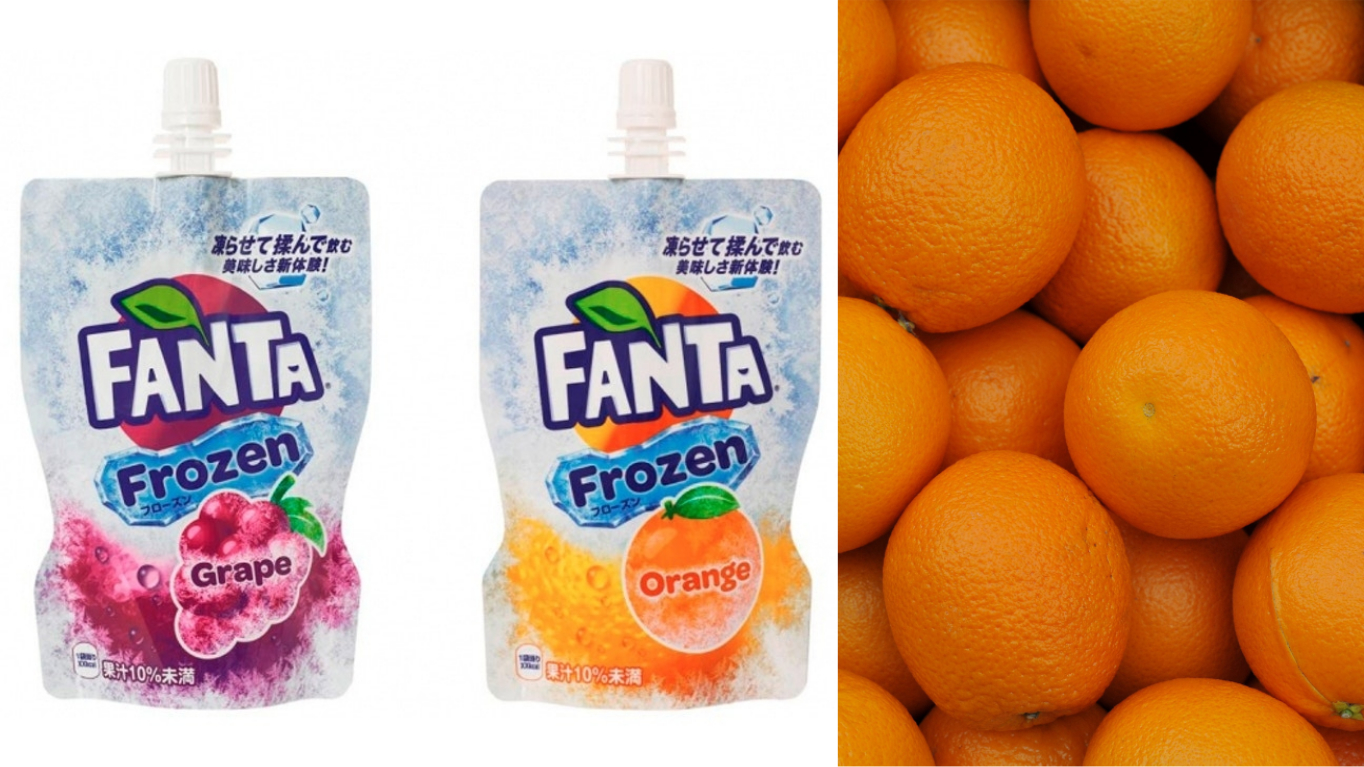 Coca Cola Unveils Fanta Frozen Orange And Grape Slushies