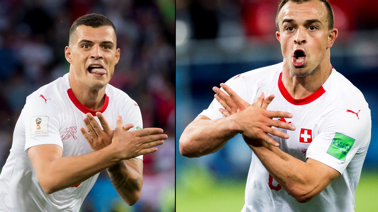 Granit Xhaka And Xherdan Shaqiri Goal Celebrations Bring Balkan Politics To World Cup