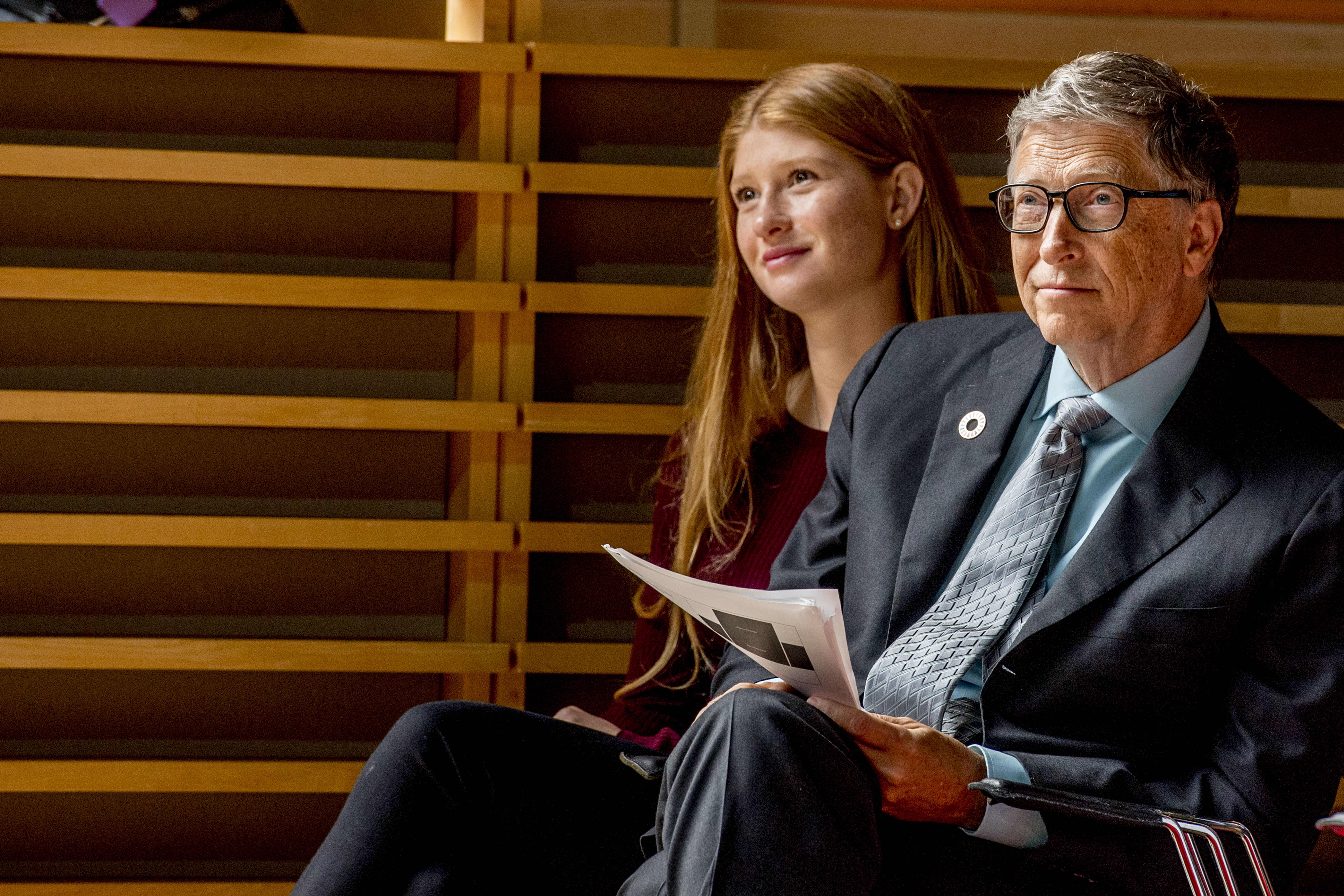 Bill Gates with daughter