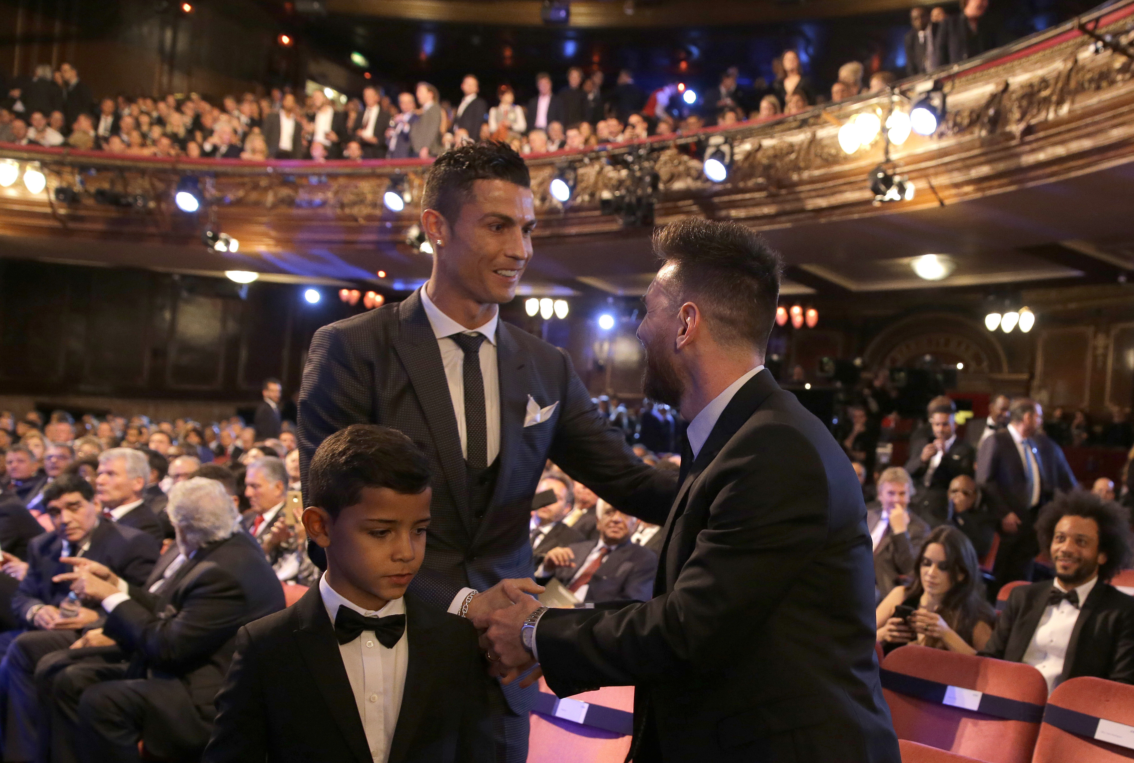 Cristiano Ronaldo wins FIFA's The Best award, edging Lionel Messi and Neymar