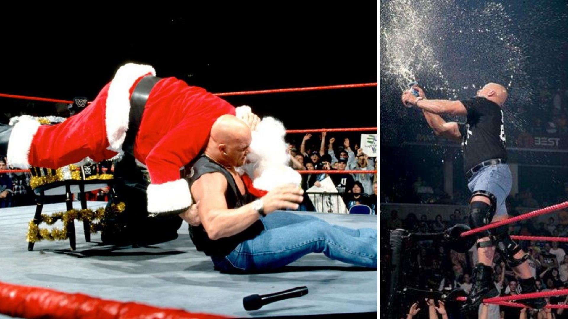 A Stone Cold Christmas.Throwback To When Stone Cold Steve Austin Hit The Stunner On