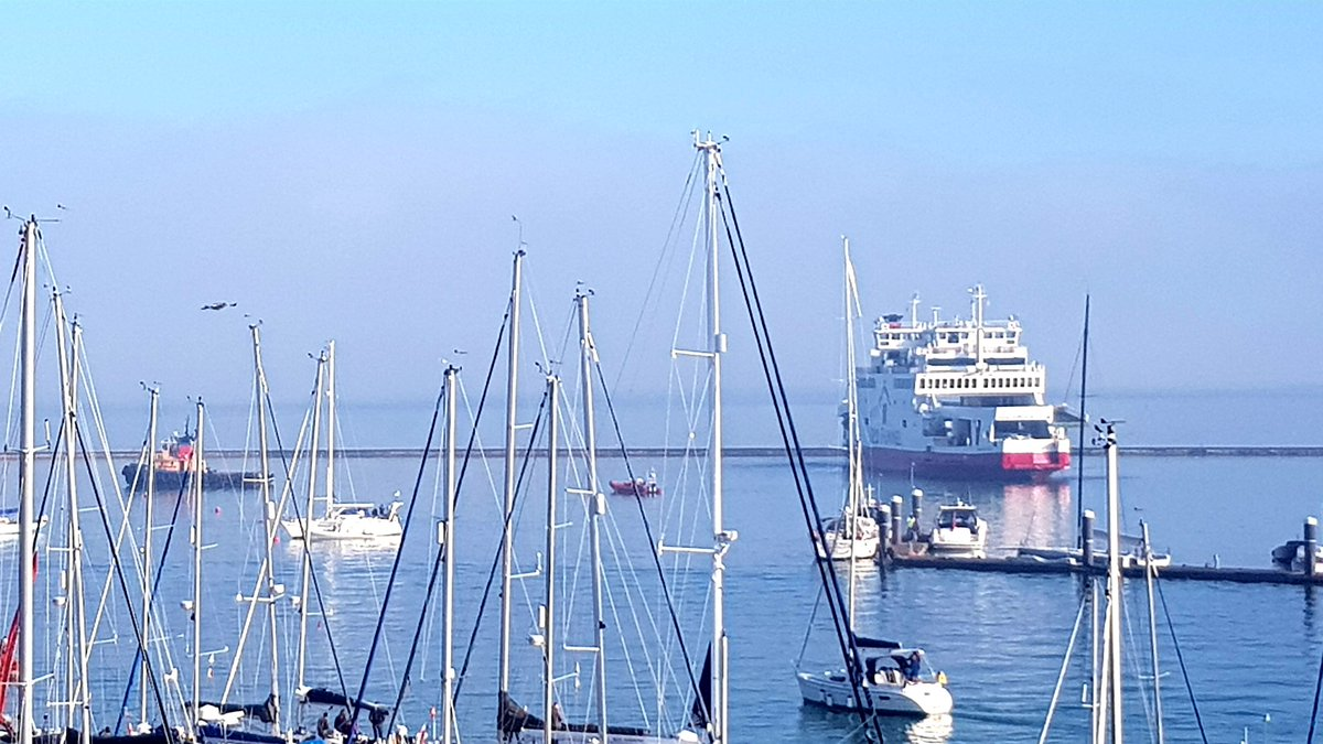 Red Funnel ferry hit yachts at Cowes harbour