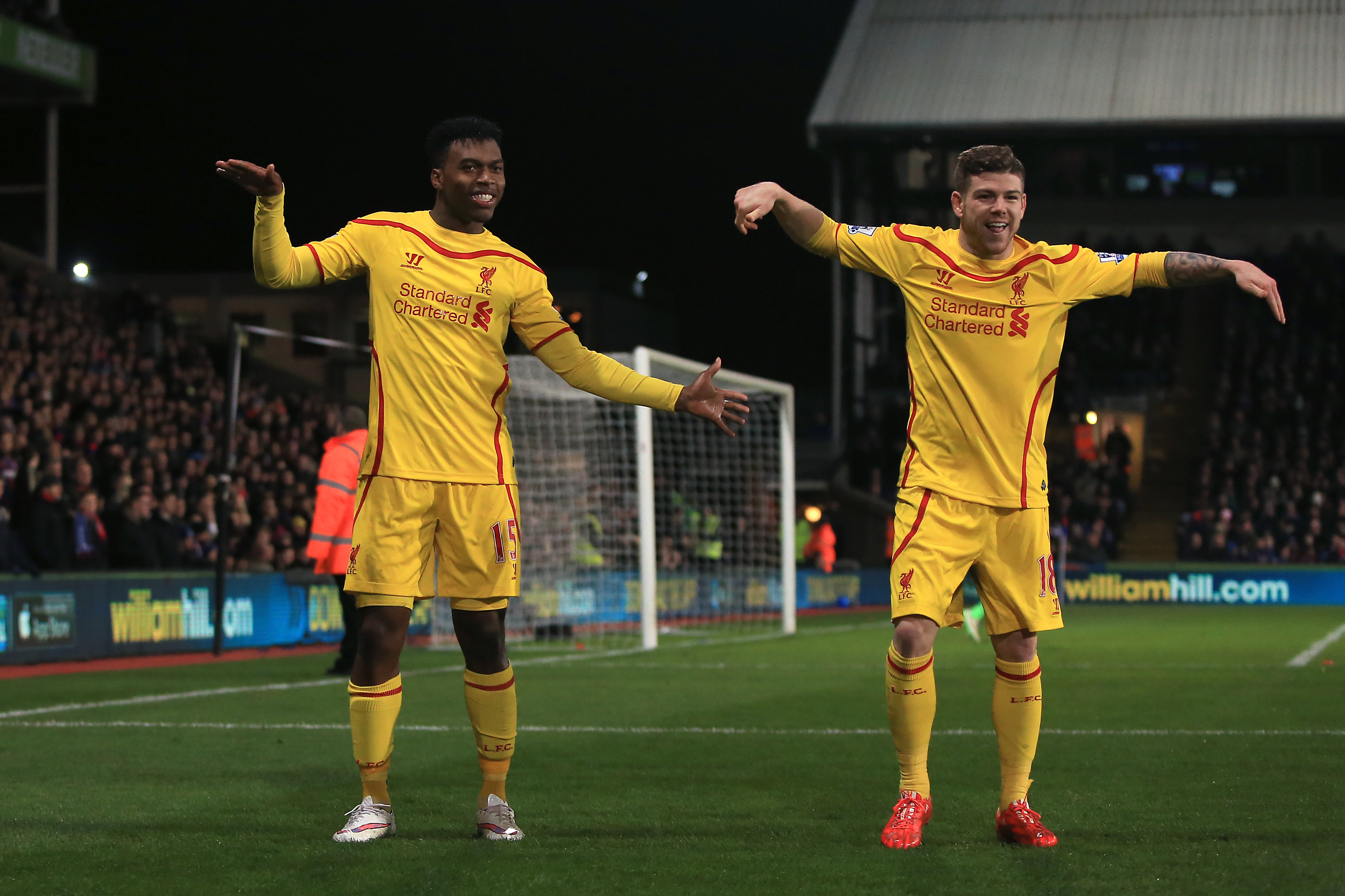 Moreno and Sturridge celebrate a goal together. mage: PA Images