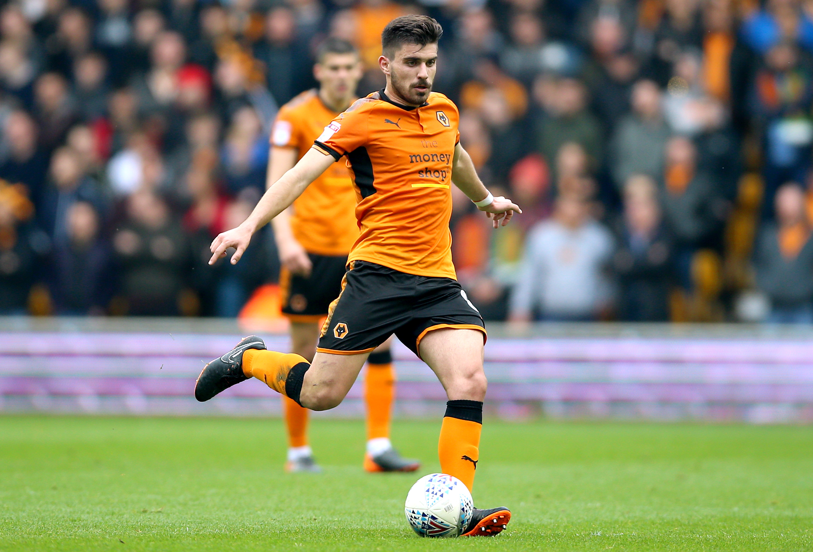Neves in action for Wolves. Image PA
