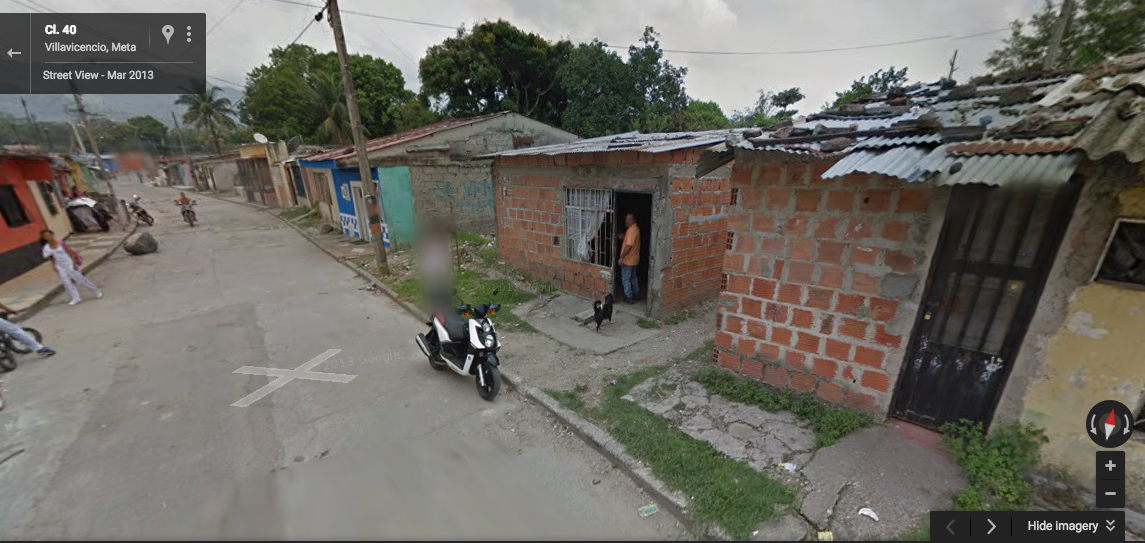 We start to see the story unfold Credit: Google Street View