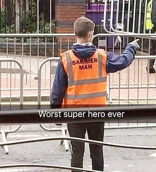Worst superhero ever.