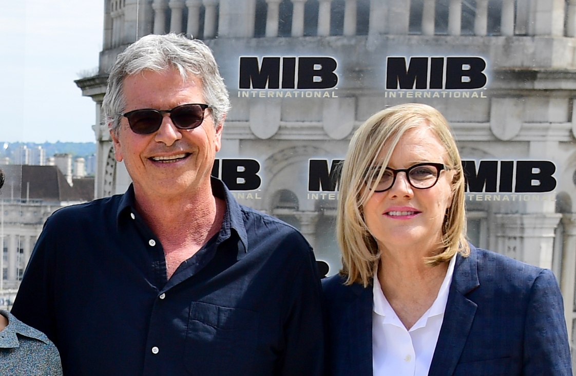 Producers Walter F. Parkes and Laurie MacDonald during the Men in Black: International photocall. Credit: PA