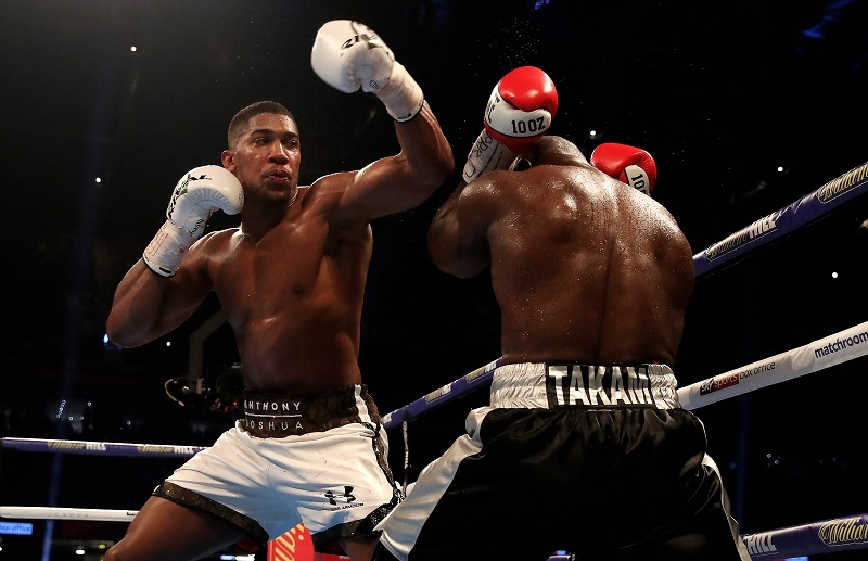 Anthony Joshua takes on Carlos Takam. Credit: PA