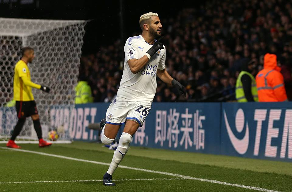 Mahrez has seven goals and seven assists in the Premier League this season. Image PA Images