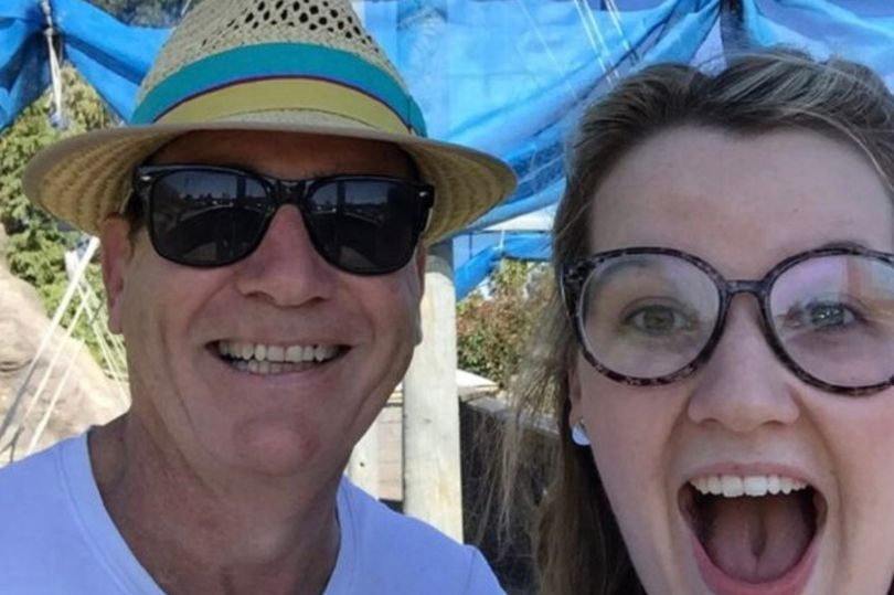 Bridie Connell and her dad have been locked in a pinch punch battle for 15 years. Credit: Twitter/Bridie Connell