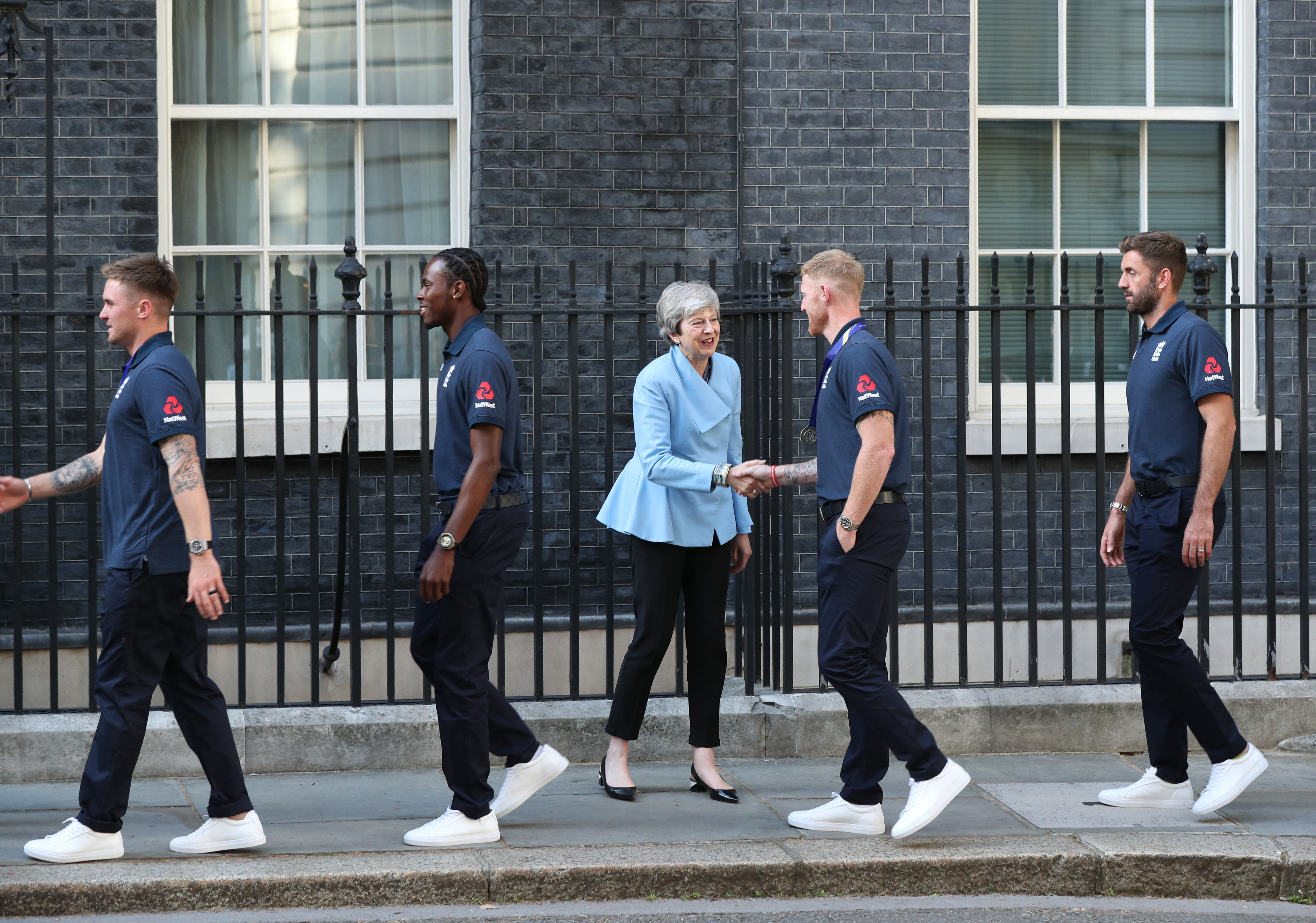 Stokes meets outgoing Prime Minister Theresa May at 10 Downing Street. Image: PA Images