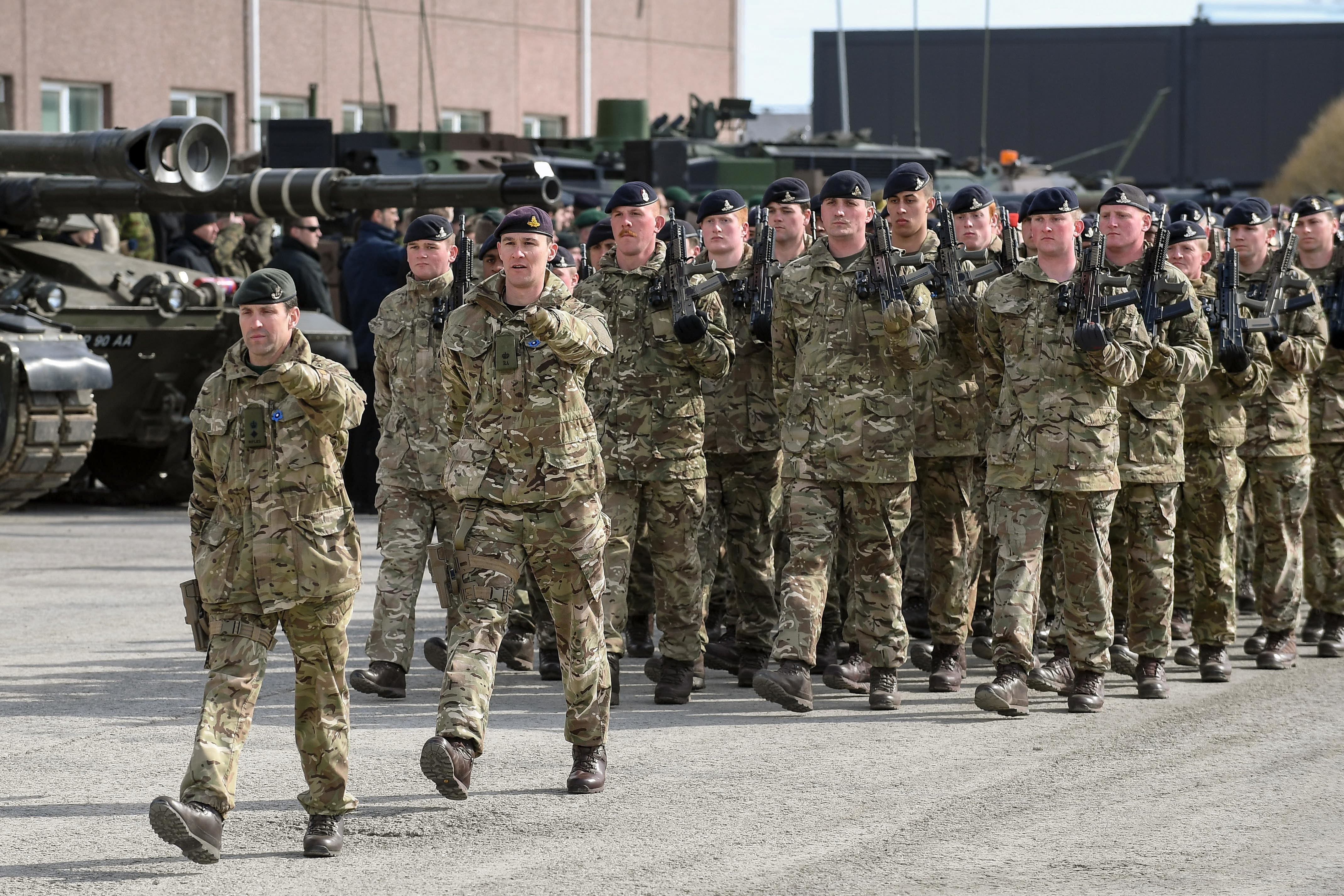 British Army soldiers on parade. Credit: PA