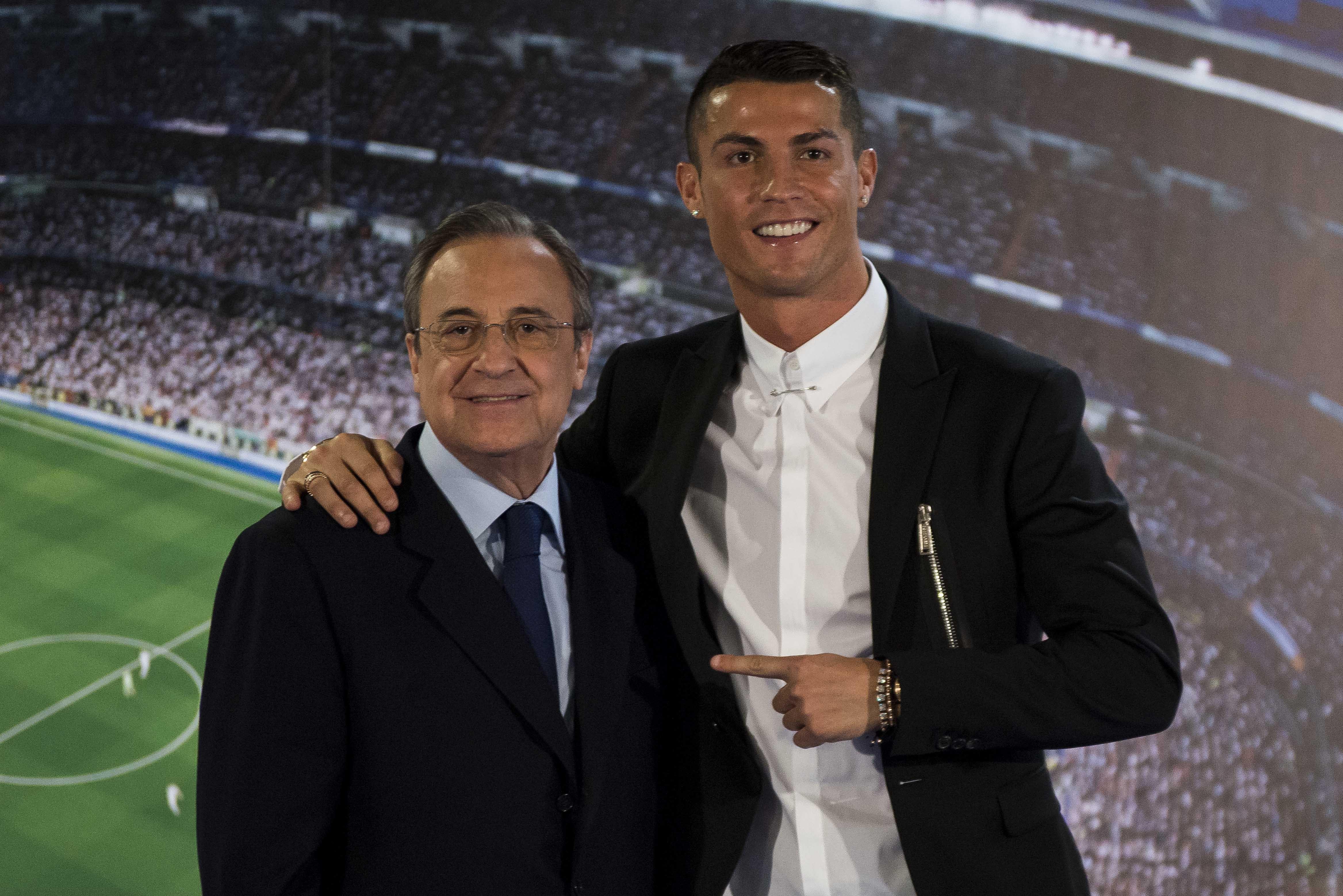 Cristiano Ronaldo và Florentino Perez