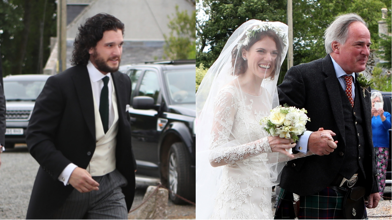 Kit Harington And Rose Leslie Arrive At Church To Get Married Ladbible