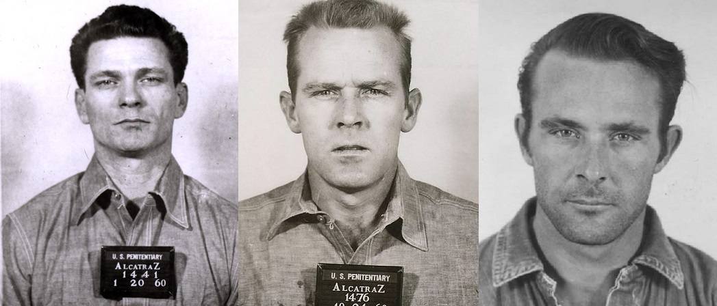 Frank Morris, John Anglin and Clarence Anglin. Credit: US Federal Government