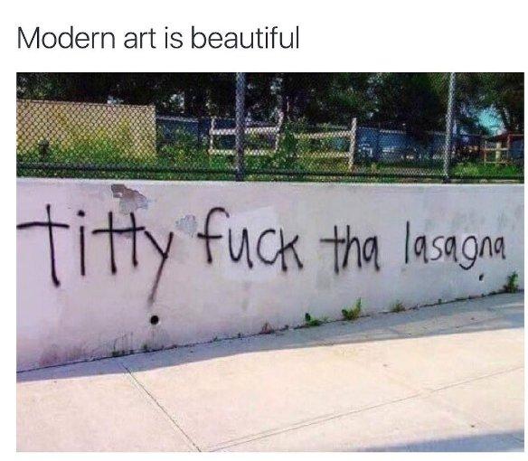 Modern art is beautiful.