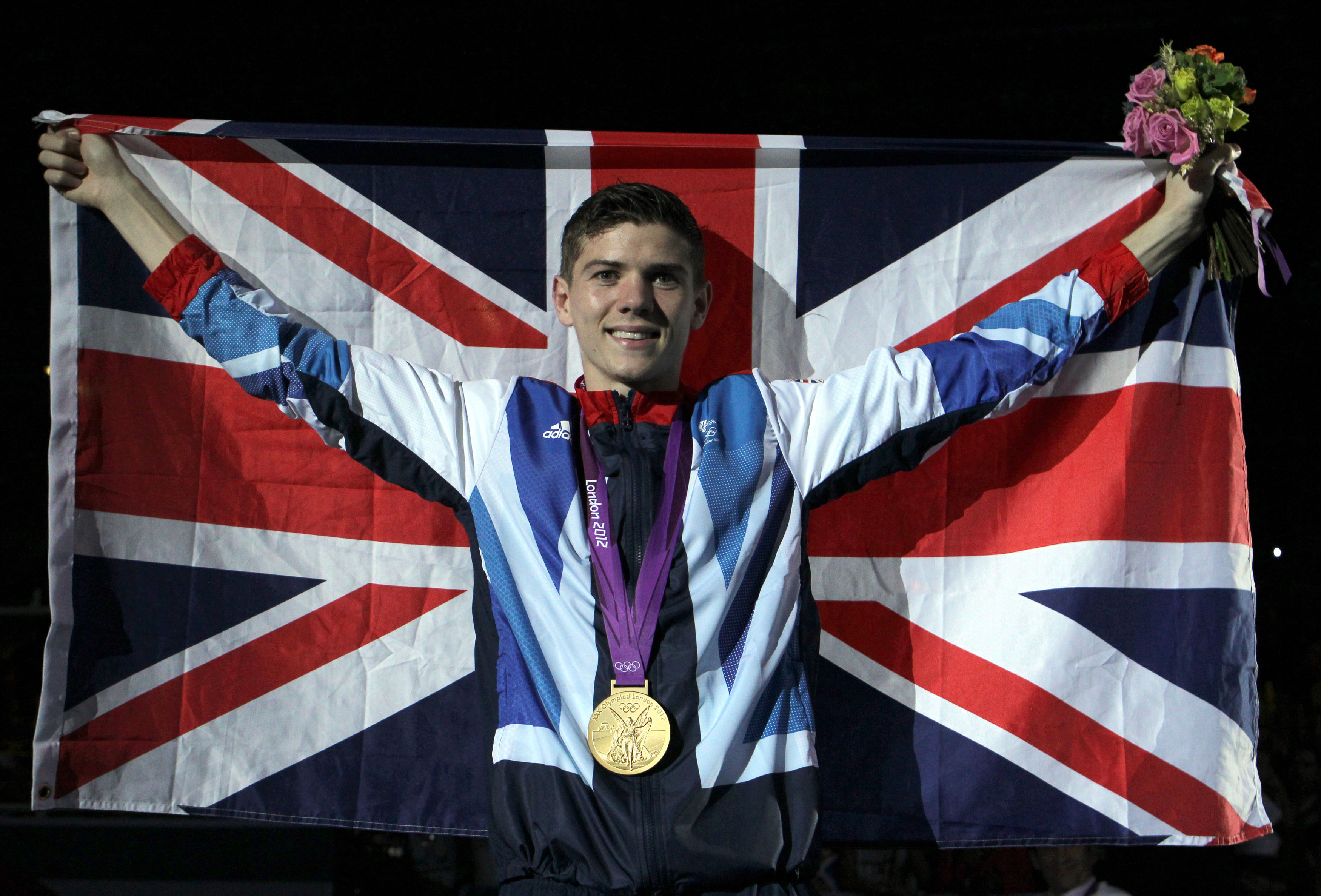 Campbell collects his gold medal at London 2012. Image: PA Images