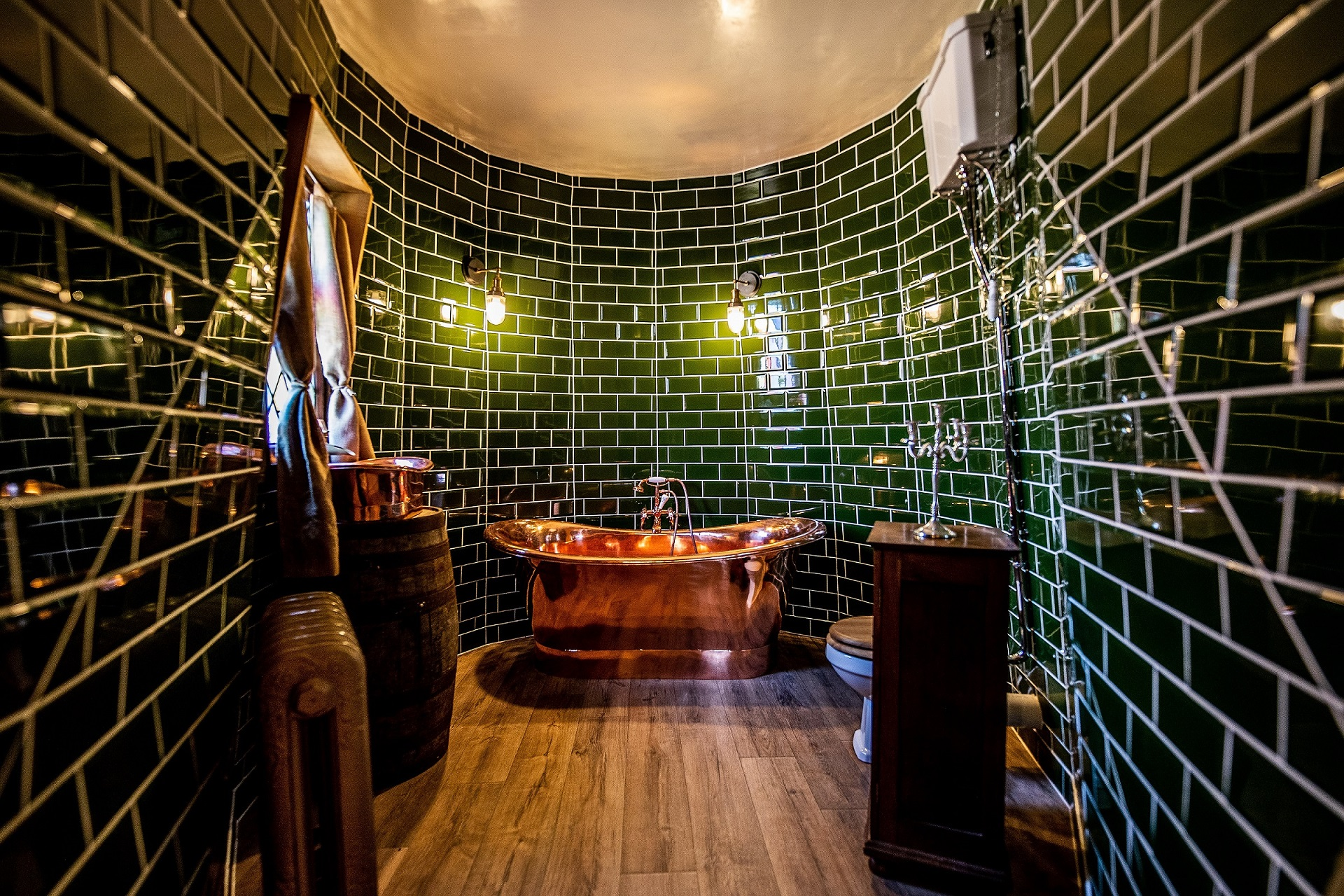 The decor backs up the Harry Potter theme. Credit: Charlotte Graham