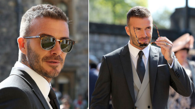 David Beckham Arrives At The Royal Wedding, Looks Like An Actual King