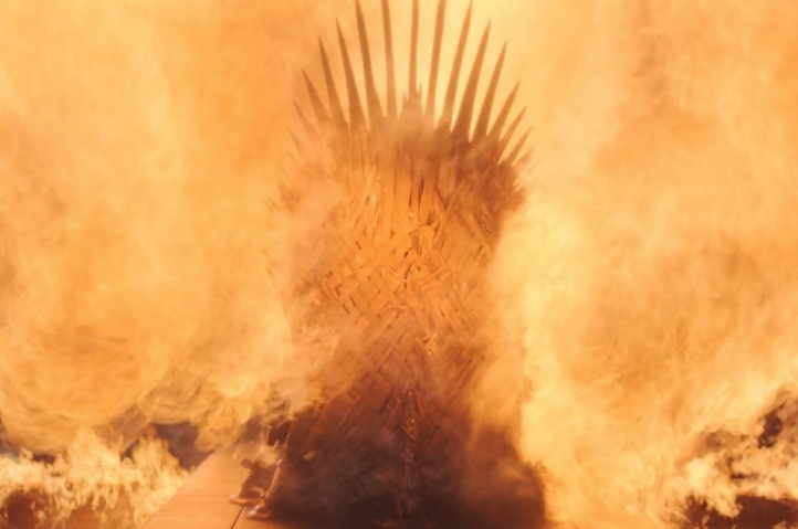 Drogon ended up melting the Iron Throne. Credit: HBO