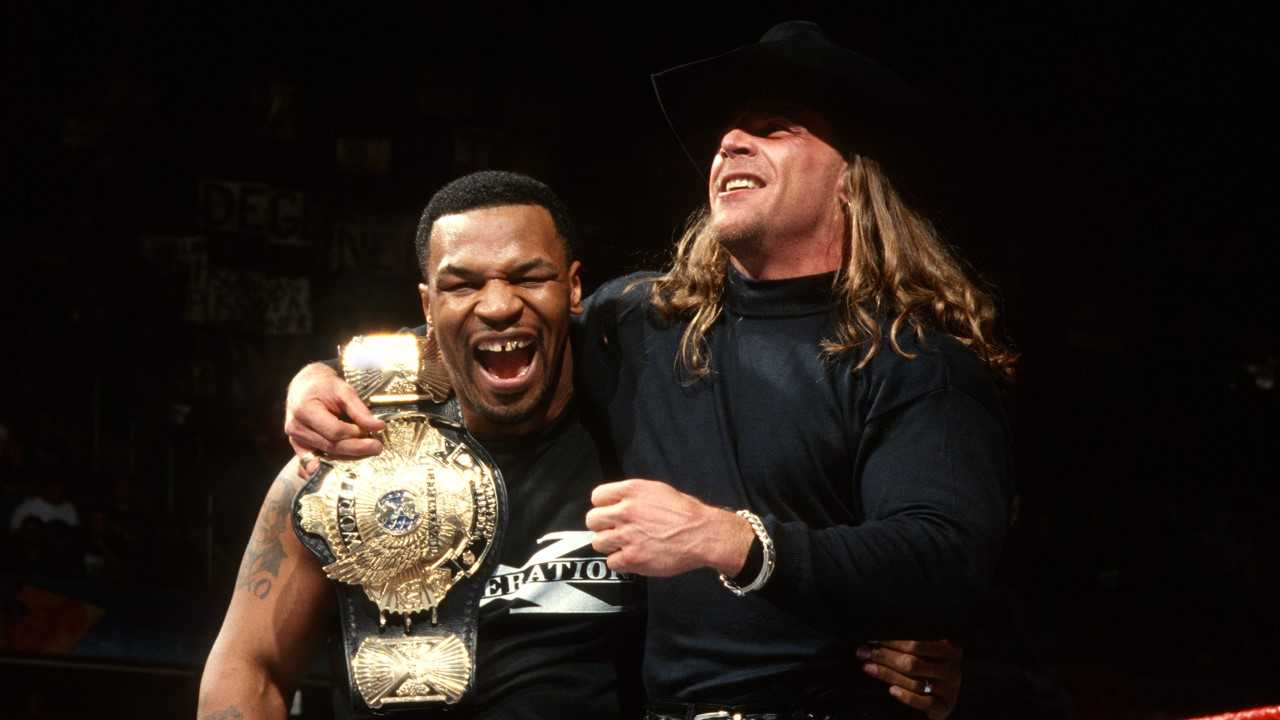 Mike Tyson and Shawn Michaels. Image: PA