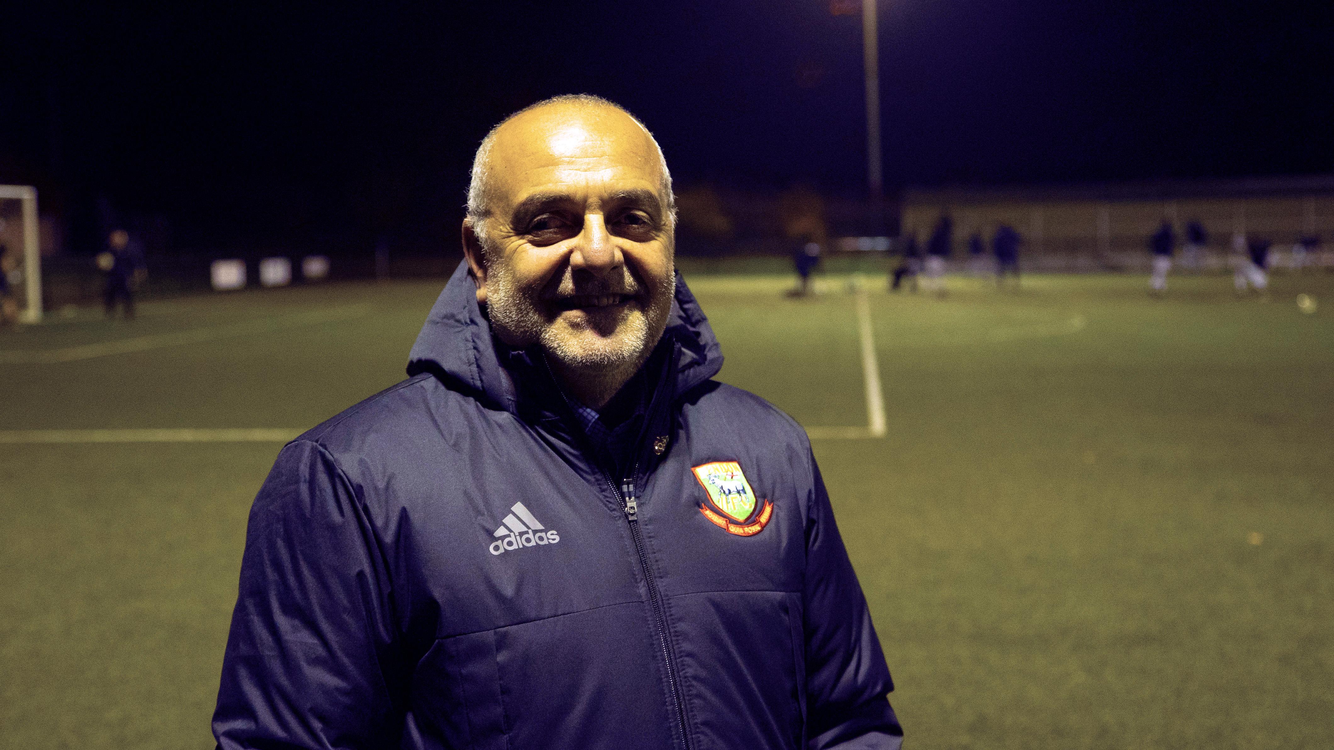 Hendon Town chairman Simon Lawrence