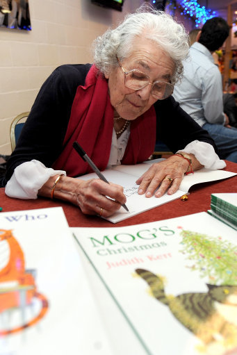 Judith Kerr signs books for fans in 2011. Credit: PA