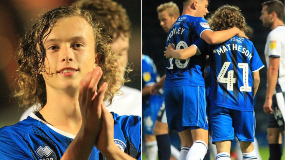 15-Year-Old Luke Matheson Returns From School To Pick Up MOTM On Debut