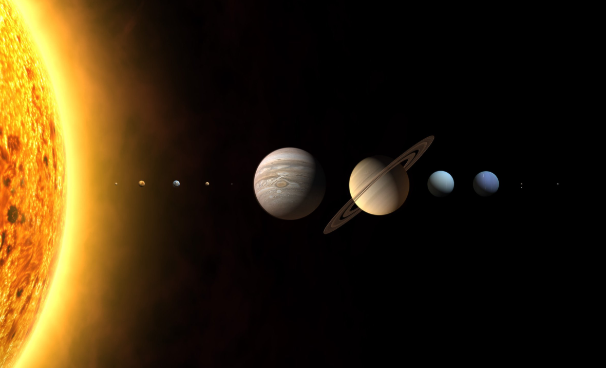 The planets of the Solar System. Credit: PA