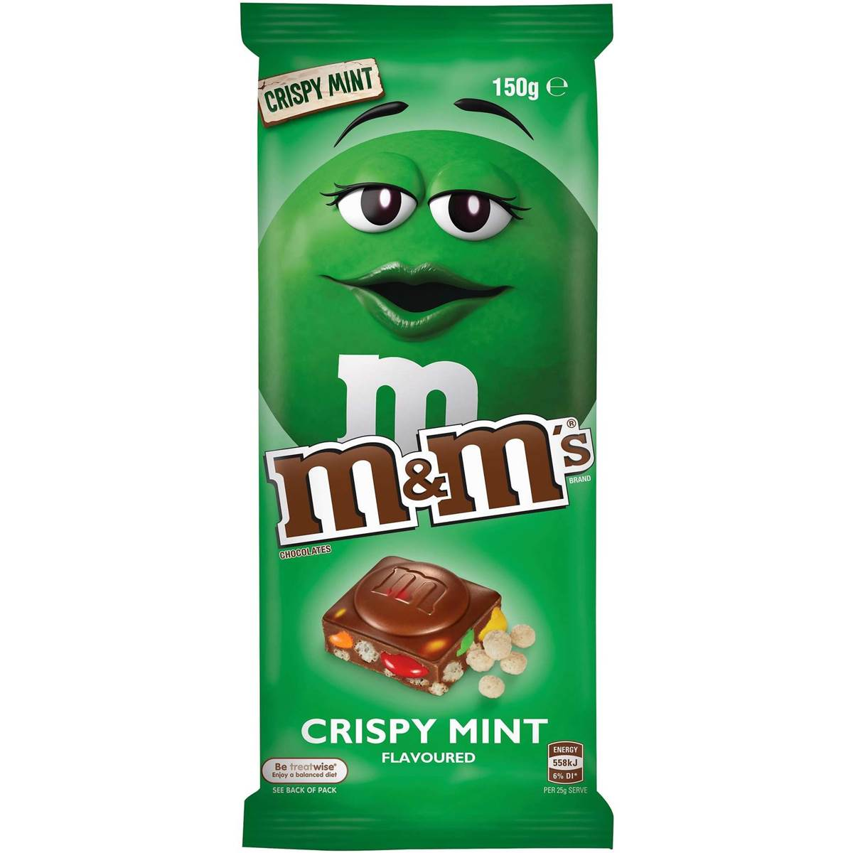 Image result for M&M crispy mint flavored Chocolate China manufactured