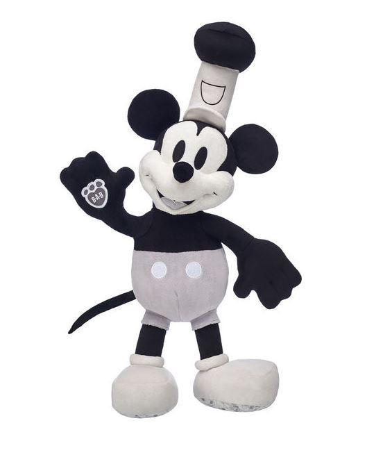 The original steamboat Mickey in black and white is just £14. (Credit: Build-A-Bear)