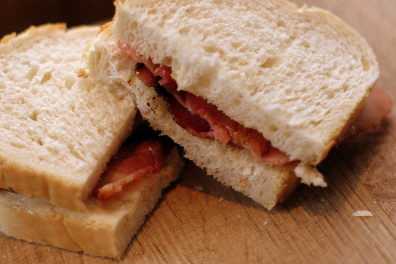 The classic bacon butty. Credit: Pixabay