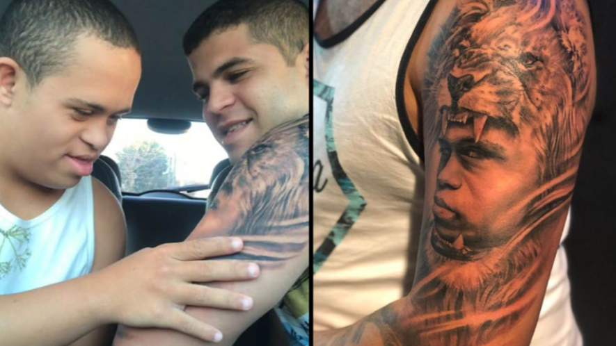 Big Brother Gets Tattoo Of Little Brother With Down's Syndrome On Arm, He Absolutely Loves It