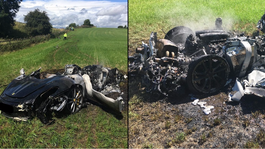 Man Manages To Crash Brand New Ferrari Within An Hour Of Buying It
